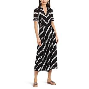 Missoni Women's Zigzag-striped Mixed-knit Dress - Wht.&blk.