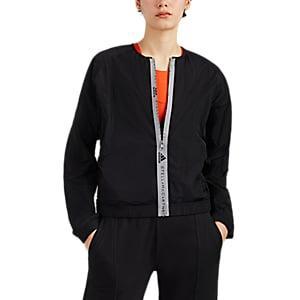 Adidas X Stella Mccartney Women's Logo-detailed Bomber Jacket - Black