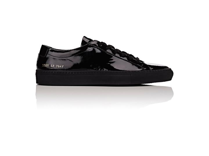 Common Projects Men's Achilles Patent Leather Sneakers