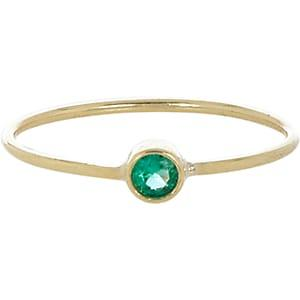 Jennifer Meyer Women's Emerald Bezel Ring - Green