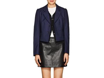 Comme Des Garons Women's Pinstriped Crop Two-button Blazer