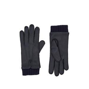 Barneys New York Women's Cashmere-lined Deerskin Gloves - Navy