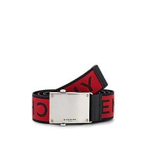 Givenchy Men's Logo-jacquard Webbed Fabric Belt - Red