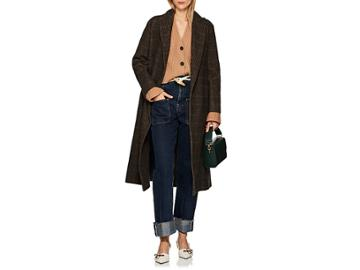 Boon The Shop Women's Checked Cashmere-wool Belted Coat