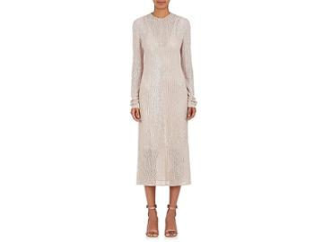 Narciso Rodriguez Women's Sequined Wool-silk Tulle Shift Midi-dress