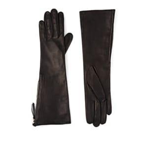 Barneys New York Women's Silk-lined Leather Long Gloves - Black