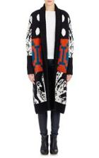 Tak. Ori Intarsia-knit Long Cardigan-multi