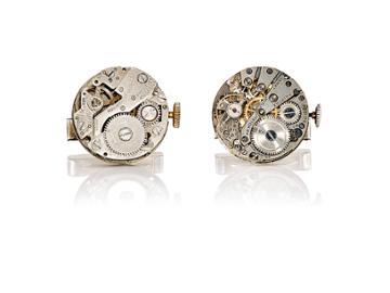 The Antique Jewel Box Men's Vintage-watch-mechanism Cufflinks