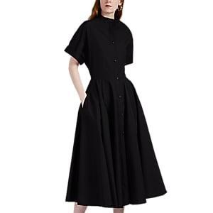 Martin Grant Women's Cotton Poplin Shirtdress - Black