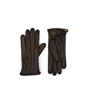 Barneys New York Men's Fur-lined Leather Gloves - Black