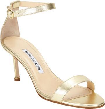 Manolo Blahnik Chaos Ankle-strap Sandal-gold