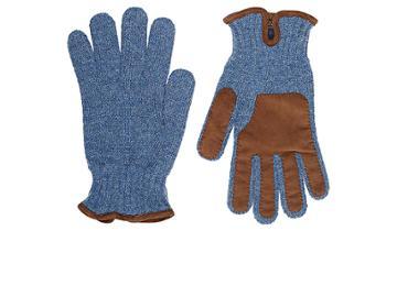 Barneys New York Men's Suede-trimmed Wool Gloves