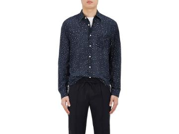 Vince. Men's Polka Dot Cotton-silk Shirt