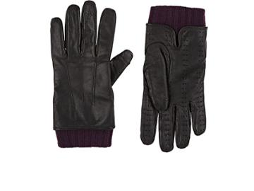Christophe Fenwick Men's Gentleman Lux Cashmere-lined Leather Gloves