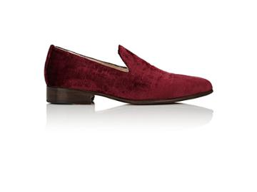 Brock Collection Women's Velvet Pointed-toe Loafers