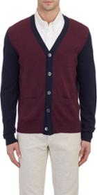 Todd Snyder Colorblock Cardigan-red