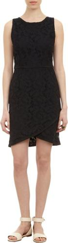 Sea Lace Sheath Dress-black