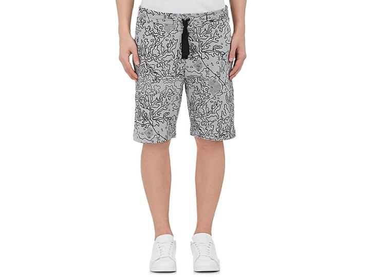 Christopher Raeburn Men's Map-print Cotton Shorts