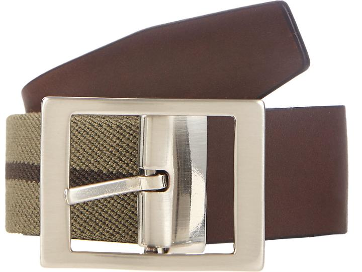 Barneys New York Men's Stripe Elastic Belt