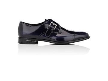 Prada Men's Spazzolato Leather Monk-strap Shoes