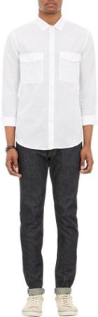 Theory Jugen Shirt-white