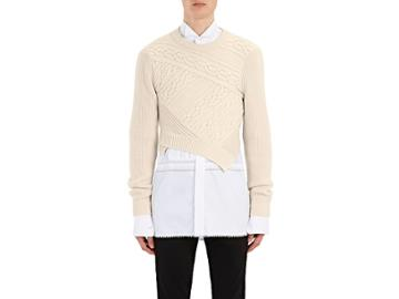 Burberry X Barneys New York Men's Cable-knit Cashmere Crop Sweater