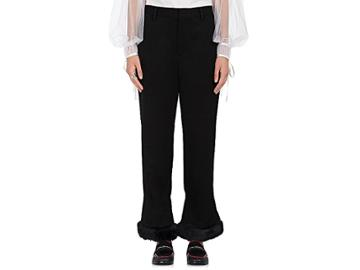 Noir Kei Ninomiya Women's Faux-fur-trimmed Wool Pants