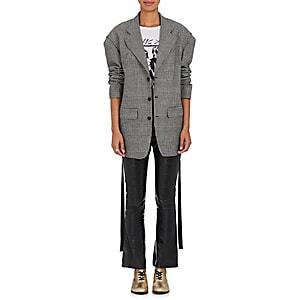 R13 Women's Prince Of Wales Checked Wool Blazer