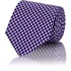 John Vizzone Men's Dot-pattern Silk Necktie-purple
