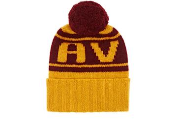 The Elder Statesman X Nba Women's Cavs Cashmere Pom-pom Beanie
