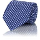 John Vizzone Men's Dotted Silk Necktie-blue