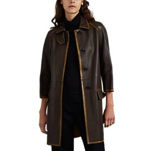 Prada Women's Leather Jacket - Brown