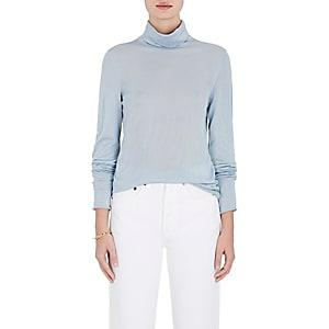 Boon The Shop Women's Cashmere-silk Turtleneck Top-ciel