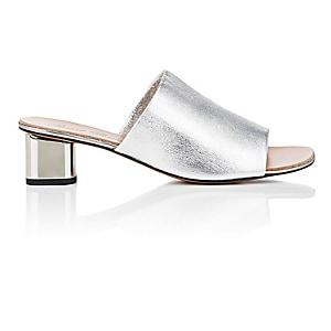 Clergerie Women's Lato Leather Slide Sandals-silver