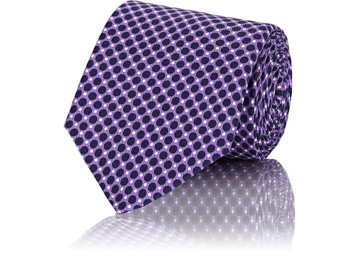 John Vizzone Men's Dot-pattern Silk Necktie