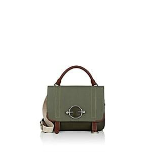 J.w.anderson Women's Disc Leather & Canvas Satchel - Green