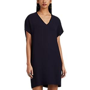 Lisa Perry Women's Silk Crepe Flyaway Dress - Navy