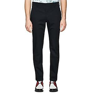 Prada Men's Stretch-cotton Trousers - Navy