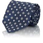 Brioni Men's Medallion-patterned Silk Necktie - Navy