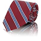 Fairfax Men's Diagonal-striped Textured Silk Necktie-red