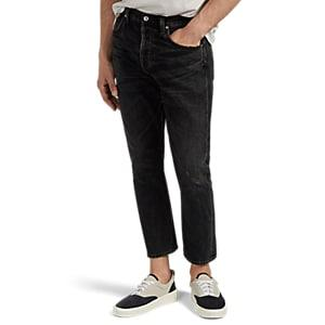 Citizens Of Humanity Men's Rowan Distressed Crop Relaxed-slim Jeans - Black