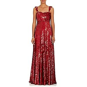 Valentino Women's Sequin-embellished Silk Gown - Red