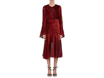 Prabal Gurung Women's Devor Velvet Long-sleeve Dress