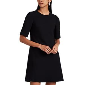 Lisa Perry Women's Peekaboo Wool Crepe Shift Dress - Black