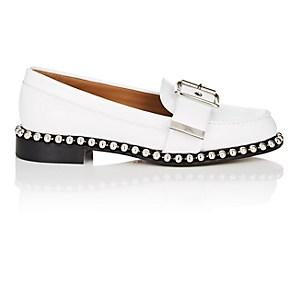 Chlo Women's Chain-embellished Leather Loafers - White