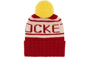 The Elder Statesman X Nba Women's Rockets Cashmere Pom-pom Beanie