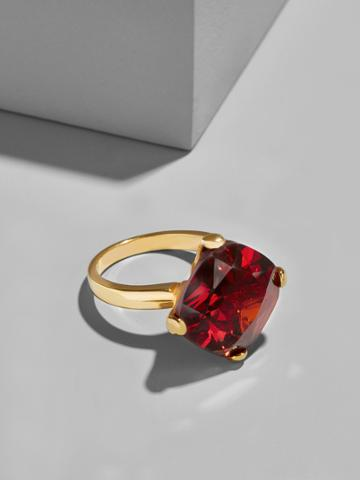 BaubleBar Ruby Cocktail Ring