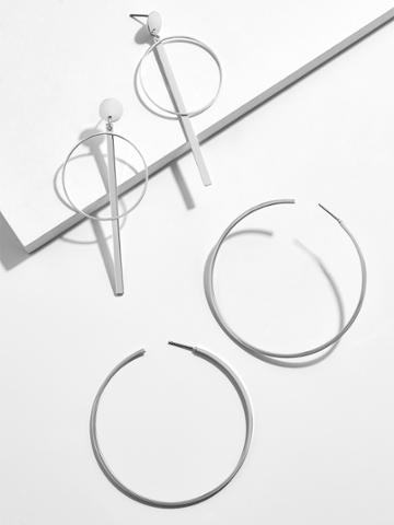 BaubleBar Prism Hoop Earring Set