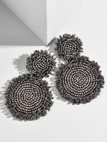 BaubleBar Rianne Drop Earrings-Silver
