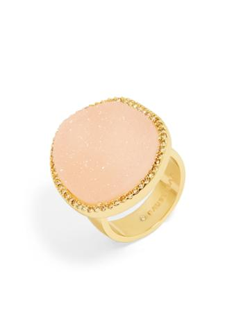 BaubleBar Misty Druzy Ring-Blush